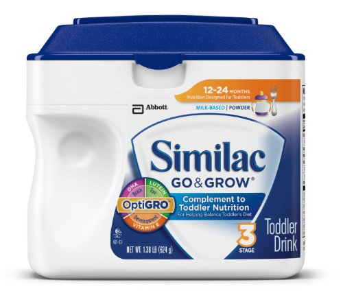 Similac Go & Grow Stage 3, Milk Based Toddler Drink with Iron, Powder, 22 Ounces (Pack of 6) (Packaging May Vary)