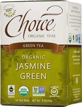Choice Organic Jasmine Green Tea, 16 Count Box