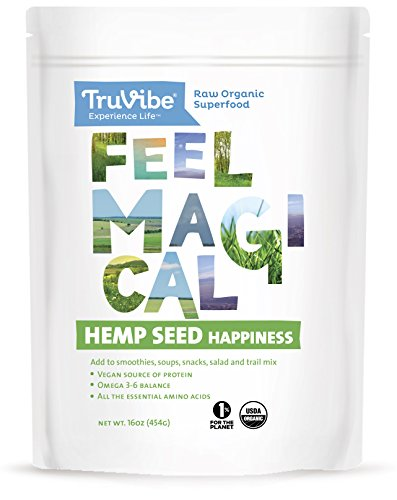 TruVibe 100% Organic Raw Hemp Seeds (16 Ounce)