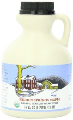 Hidden Springs Maple Pint Organic Vermont Premium B Syrup, 16 Ounce