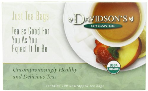 Davidson's Organic Tea South African Rooibos, 100-Count Tea Bags, 5.29oz