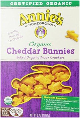 Annie's Homegrown Organic Cheddar Snack Bunnies, 6.75 Oz