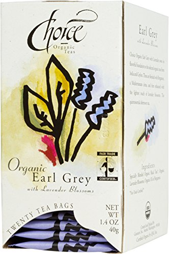 Choice Organic Earl Grey Tea with Lavender, 20 Count Box