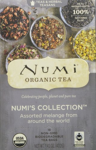 Numi Organic Tea Numi 's Collection, Assorted Full Leaf Tea and Teasan, 18 Count
