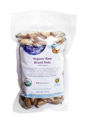 Organic Raw Brazil Nuts, 16oz