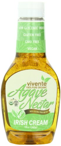 Vivente Organic Agave Nectar with Fiber, Irish Cream Flavored, 12.17 Ounce