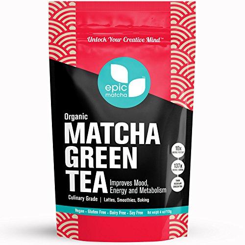 Epic Matcha Green Tea Powder – Japan – Organic – 48 Servings