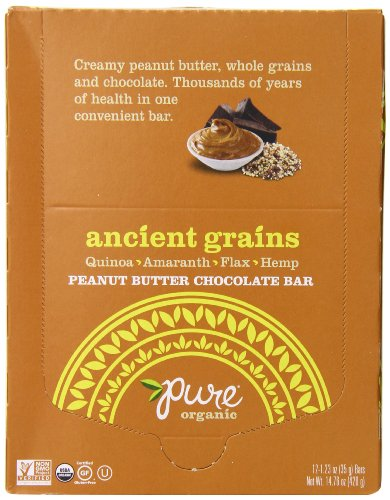 Pure Organic Ancient Grain Bar, Peanut Butter Chocolate, 1.23 oz. 12 Count
