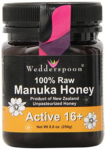 Wedderspoon Organic – 100% Raw Manuka Honey, active 16+, 8.8 oz honey