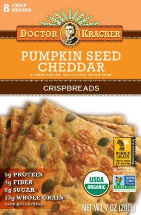 Doctor Kracker Flatbread, Pumpkin Cheddar, 7-ounces (Pack of6)