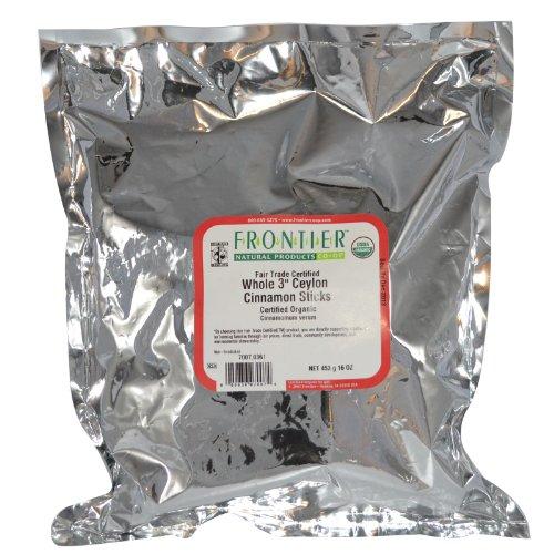 Frontier Bulk Cinnamon Sticks, Ceylon 3″ ORGANIC Fair Trade Certified