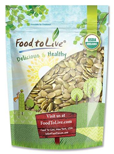 Food to Live CERTIFIED ORGANIC PEPITAS / PUMPKIN SEEDS (Raw, No Shell) (2 Pounds)