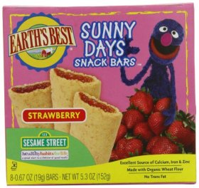 Earth's Best Organic Sunny Days Snack Bars, Strawberry, 8 Count (Pack of 6)