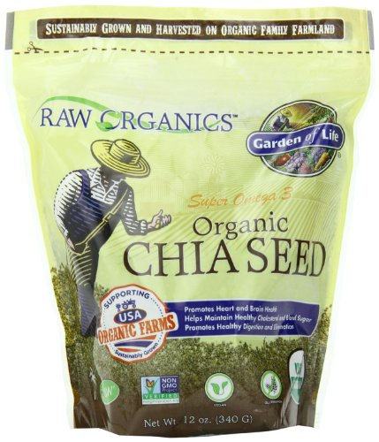 Garden of Life RAW Organics – Organic Chia Seeds, 12 oz