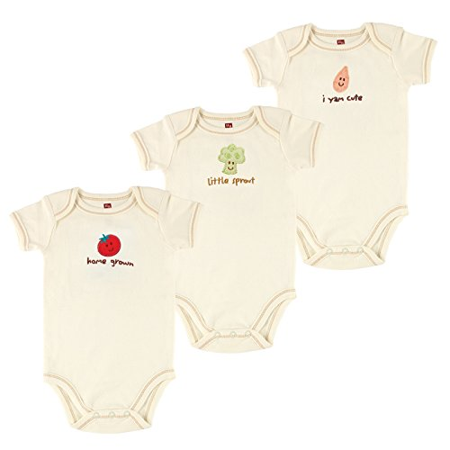 Touched By Nature Organic Short Sleeved Bodysuit 3-Pack, Tomato, 6-9 Months