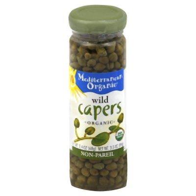 Mediterranean Organic Wild Capers Non-Pareil 3.5 Oz (Pack of 3)