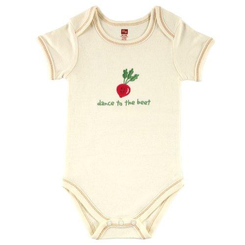 Hudson Baby Organic Bodysuit – Beet, 6-9 Months