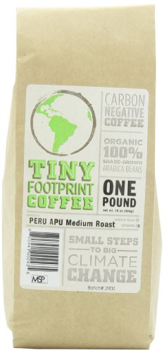 Tiny Footprint Organic Peru APU Medium Roast Coffee, Ground, 1 Pound