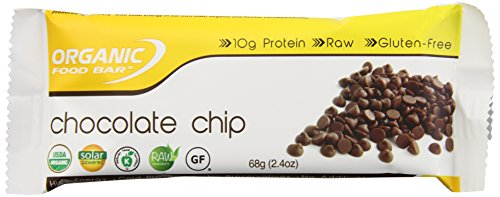 Organic Food Bar, Chocolate Chip, 2.4 Ounce (Pack of 12)