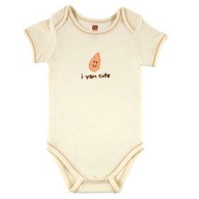 Hudson Baby Organic Bodysuit – Yam, 0-3 Months