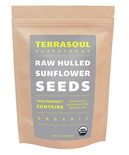 Terrasoul Superfoods Domestic Hulled Sunflower Seeds (Organic), 2 Pounds