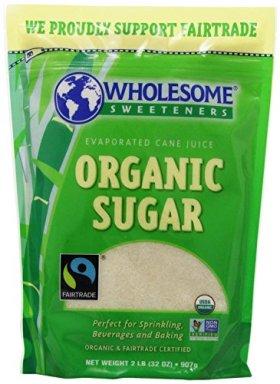 Wholesome Sweeteners Organic Fair Trade Cane Sugar, 2 lb (Pack of 2)