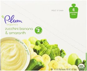 Plum Organics Baby Second Blends Fruit and Grain, Zucchini, Banana and Amaranth, 3.5 Ounce