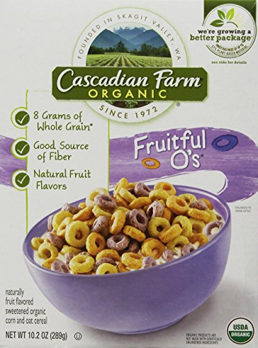 Cascadian Farm Cereal Organic Cereal, Fruitful O's, 10.2 Ounce