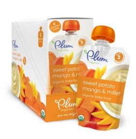 Plum Organics Baby Second Blends Fruit and Grain, Sweet Potato, Mango and Millet, 3.5 Ounce (Pack of 12)