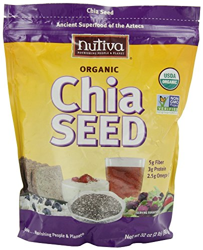 Nutiva Organic Chia Seeds (3 Pack – ORGANIC 32 Ounce)