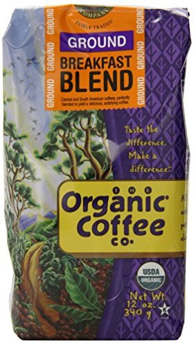 The Organic Coffee Company Ground, Breakfast Blend, 12 Ounce