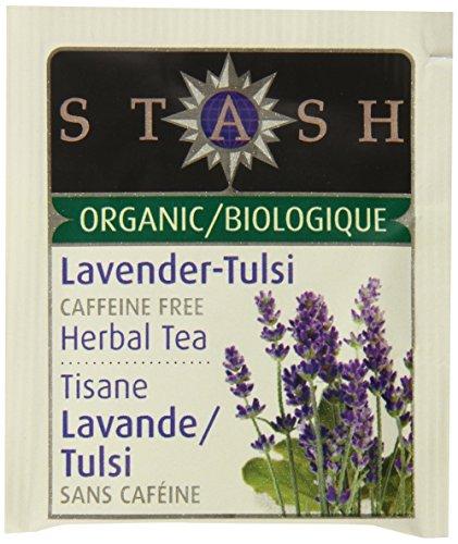 Stash Tea Organic Herbal Tea Bags in Foil, Lavender Tulsi, 100 Count