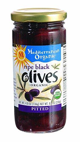 Mediterranean Organic Organic Tree-Ripened Black Olives 8.1 oz. (Pack of 12)