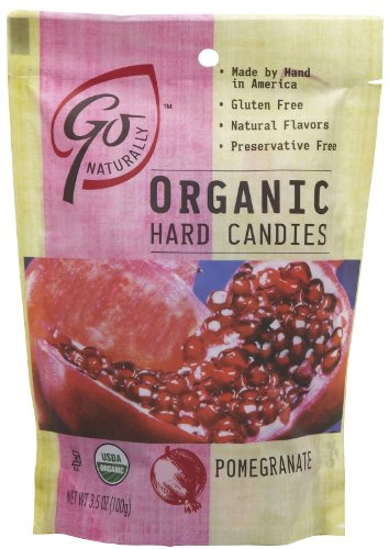 Go Naturally Organic Gluten Free Hard Candies Pomegranate — 3.5 oz