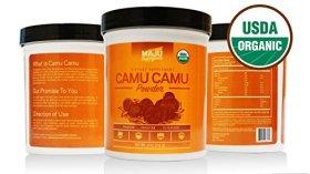 THE #1 Rated Organic Camu Camu Powder (4 oz), 100% Pure Camu Camu Berry, Wide Scoop Container, Certified USDA Organic & Packaged in USA By Maju Superfoods