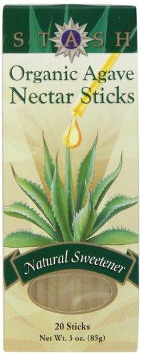 Stash Tea Organic Agave Nectar Sticks, 20 Count Stick