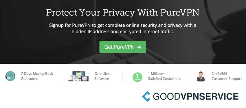 Bescherm je privacy PureVPN