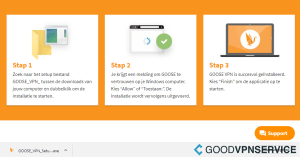 Downloaden van GOOSE VPN