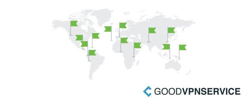 IPVanish VPN server locaties