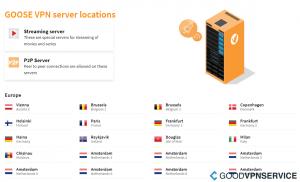 Servers GOOSE VPN
