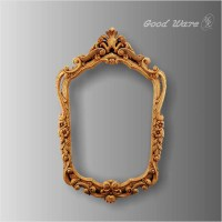 Faux Wood Decorative Moulding Mirror Frame For Sale