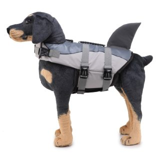 swim safety dogs life vest shark