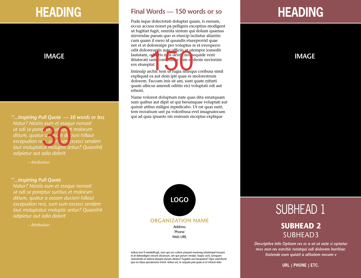 how to create a trifold brochure in word