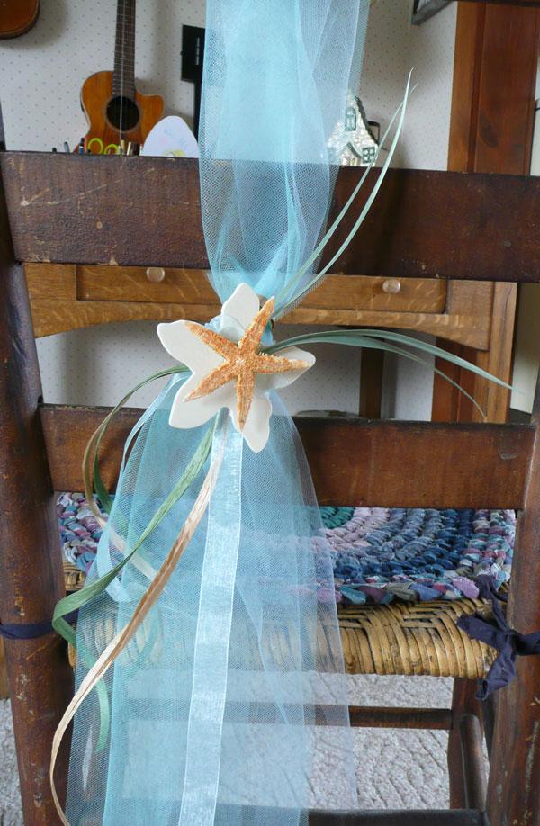beach wedding chair sashes  Goodwerks Creative