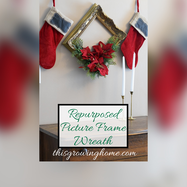 Repurposed Picture Frame Wreath