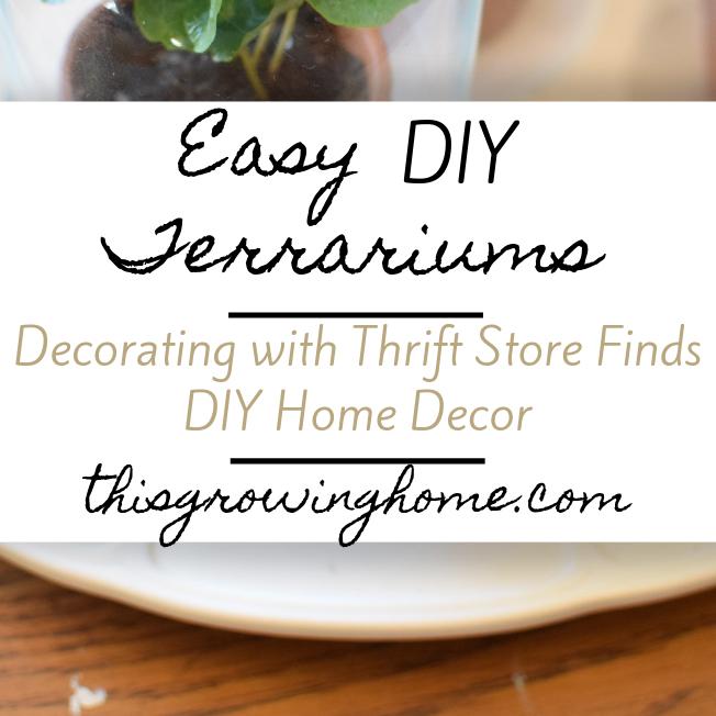 Spring Home Project – Easy DIY Terrarium