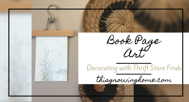 Book Page Art DIY Home Decor Idea