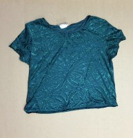 Green velvet burnout top from California Dynasty - $2
