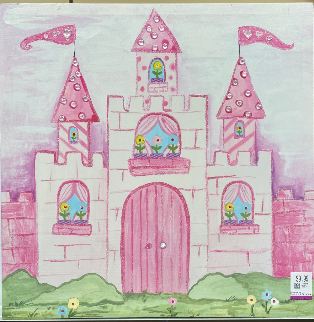 Hand Painted Castle Painting