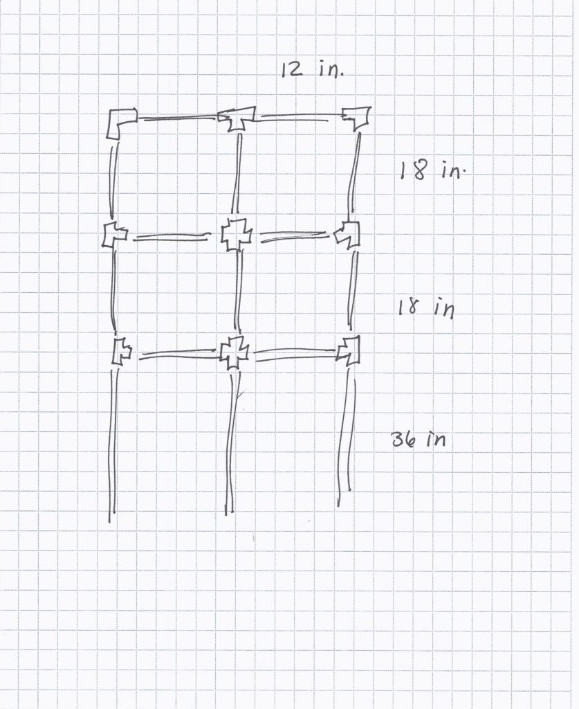 medium resolution of i decided to build my own trellis out of pvc piping i like pvc because it s lightweight easy to work with and an unexpected material in a garden